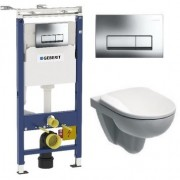 Комплект Geberit Duofix 458.125.21.1-0121 UP100 с подвесным унитазом IFO Special RP731300100 с сиденьем RP706012100, 458.125.21.1-0121, 17100.00 р., 458.125.21.1-0121, Geberit, Унитаз+инсталляция