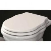 EE71/HEA005 01;71 ArtCeram Hermitage Сиденье для унитаза, белое, soft-close, крепеж хром