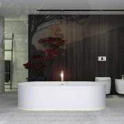 KNIEF Moon ванна отдельностоящая 190x90x50 cm, c встроенной LED подсветкой ,с слив переливом , цвет белый матовый, 0600-030-01, 477292.00 р., 0600-030-01, Knief, Ванны