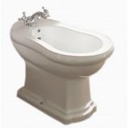 KERASAN Retro Биде напольное с 3-мя отв. под смеситель, цвет белый , 1020 bi*3                T, 24954.00 р., 1020 bi*3                , Kerasan, Биде