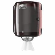 Диспенсер для бумажных полотенец Tork Performance 659008-06, черный/красный, 4QU1E3MK7, 4865.00 р., 4QU1E3MK7, Tork, Диспенсер для полотенец