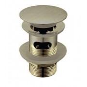 Донный клапан WasserKRAFT A046 для раковины с переливом светлая бронза, A046, 1570.00 р., A046, WasserKRAFT, Комплектующие для раковины