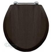 Крышка-сиденье Devon&Devon IBSEWENROCR массив дуба темного цвета, хром, 4QU1E3FSG, 30246.00 р., 4QU1E3FSG, Devon&Devon, Крышка-сиденье