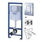 Монтажный блок Grohe Rapid SL 38775001 (38772) в комплекте с крепежом, звукоизоляция и кнопкой, 38775001, 9700.00 р., 38775001, Grohe, Монтажный блок