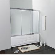 Шторка на ванну Cezares FAMILY-V-3-150/140, 4QU1E3LBP, 37905.00 р., 4QU1E3LBP, Cezares, Шторка для ванны