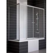 Ограждение на ванну раздвижное с неподвижной боковой стороной Vegas Z2V+ZVF 160*80, вход в центре, 4QU1E3JH4, 30008.00 р., 4QU1E3JH4, , Шторки для ванны