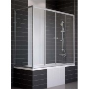 Ограждение на ванну раздвижное с неподвижной боковой стороной Vegas Z2V+ZVF 150*90, вход в центре, 4QU1E3JQI, 28364.00 р., 4QU1E3JQI, , Шторки для ванны