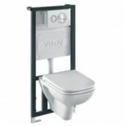 Комплект 4 в 1: Унитаз+система смыва Vitra S20 9004B003-7200, 4QU1E3UKT, 16840.00 р., 4QU1E3UKT, Vitra, Унитаз+инсталляция