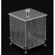 Хрустальная квадратная корзина для мусора Cristal-et-Bronze Boutique 30203