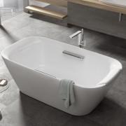 TOTO Neorest Ванна отдельностоящая 1800x950x600 мм, со сливом-переливом, подголовником, цвет: белый/серебристый, PJY1886HPWMNE#GW, 588336.00 р., PJY1886HPWMNE#GW, Toto, Ванны