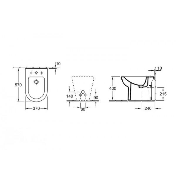 Villeroy&Boch Биде напольное Omnia Architectura 5474 0001