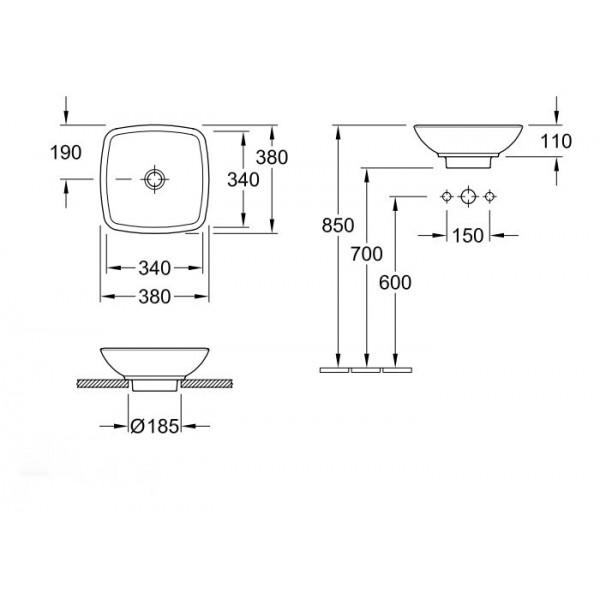 Villeroy&Boch Раковина для установки на столешницу Loop & Friends 5149 00R1