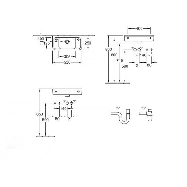 Villeroy&Boch Раковина Omnia Architectura 5373 2501