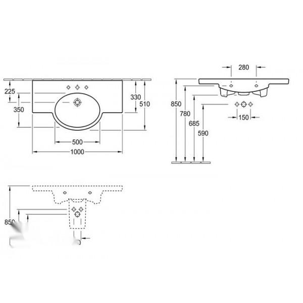 Villeroy&Boch Раковивна-столешница Variable 5153 A001