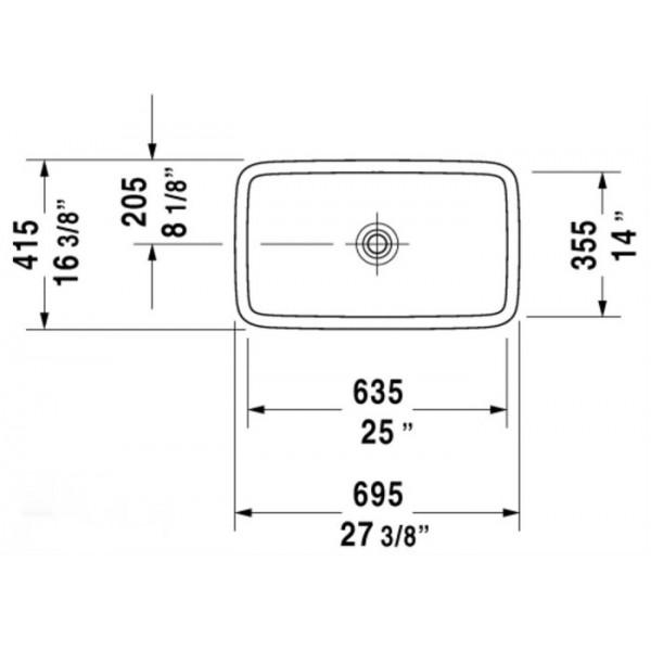 Duravit Раковина накладная PURA VIDA 03707000001-WG