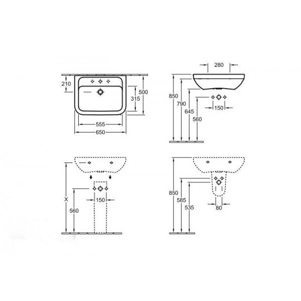 Villeroy&Boch Раковина Omnia Architectura 5175 65R1