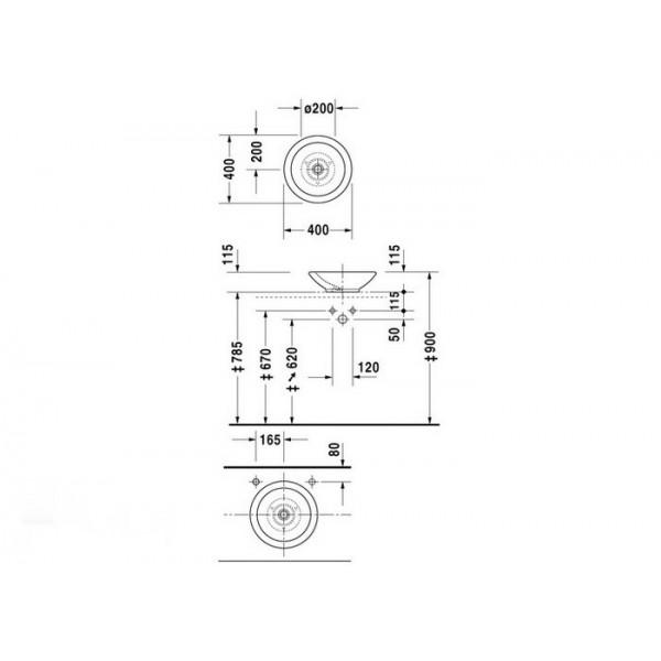 Duravit Раковина круглая белая BAGNELLA 04514000001-WG