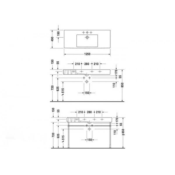 Раковина Duravit Vero 329120000