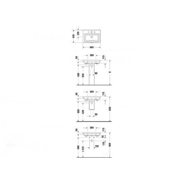 Duravit Раковина белая 2nd FLOOR 04916000001-WG