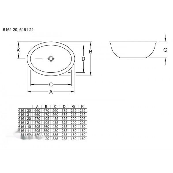 Villeroy&Boch Раковина встроенная шлифованная Loop&Friends 6161 2001