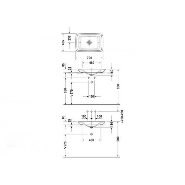 Duravit Раковина накладная PURA VIDA 0369700000