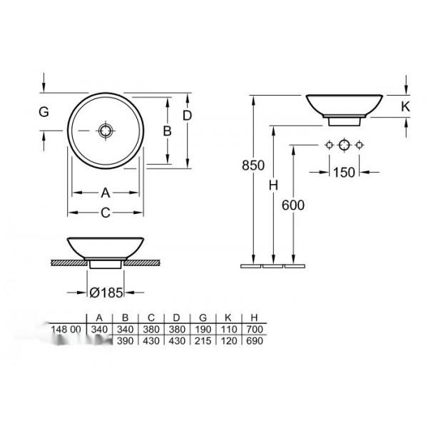 Villeroy&Boch Раковина для установки на столешницу Loop & Friends 5144 00R2