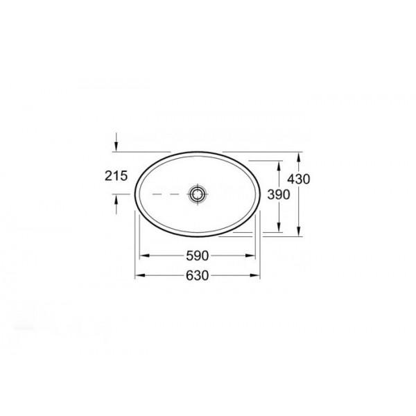 Villeroy&Boch Раковина накладная Loop&Friends 5151 11R1
