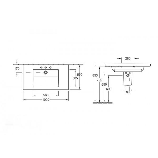 Villeroy&Boch Раковина Metric Art 5195 11R1