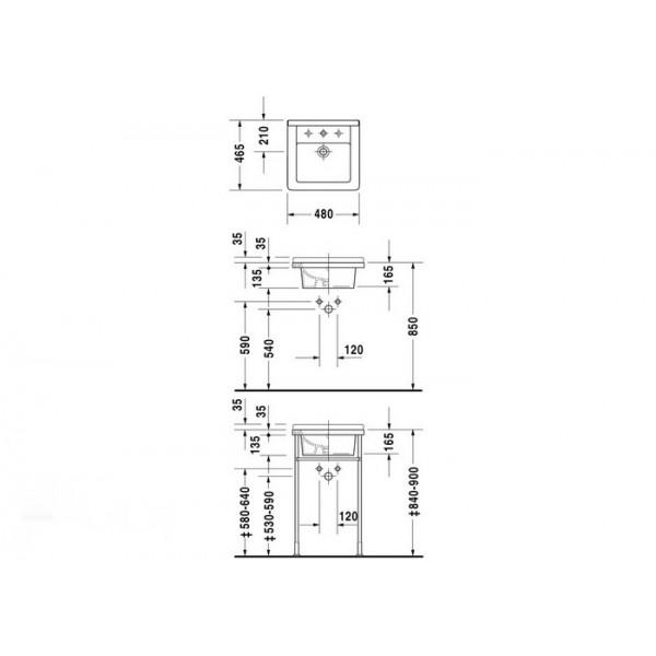 Duravit Раковина накладная белая STARCK3 03034800001-WG
