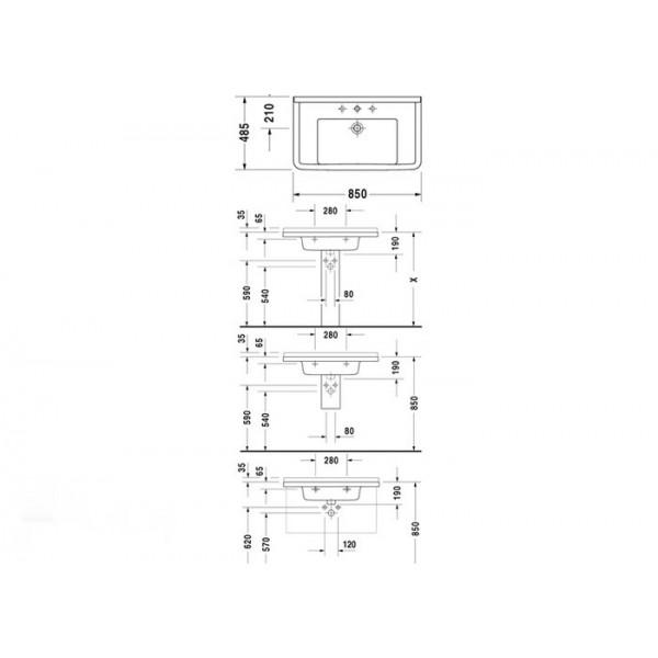 Duravit Раковина STARCK3 03048000001-WG