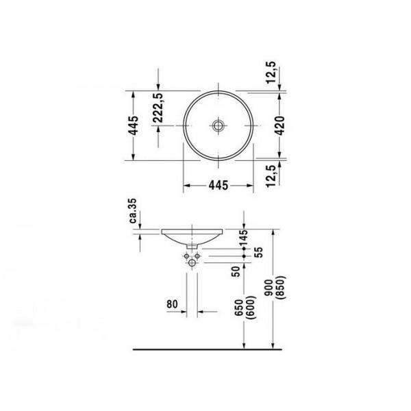 Duravit Раковина накладная ARCHITEC 0319420000
