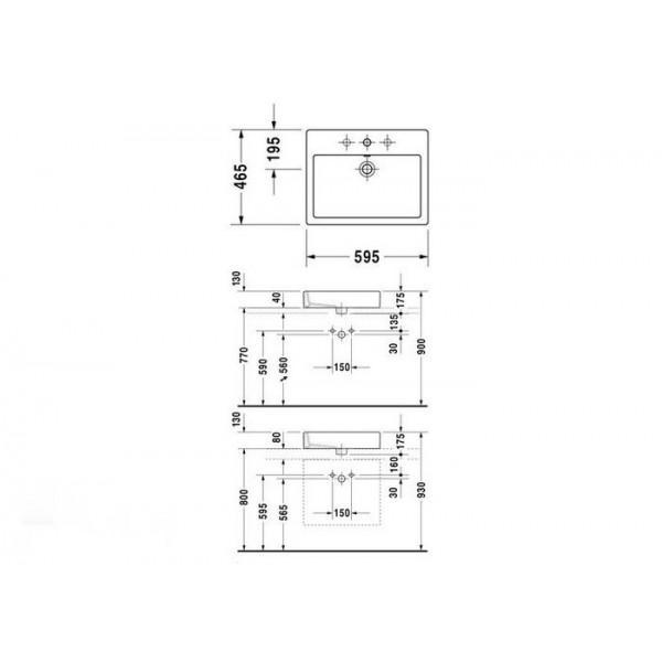 Duravit Раковина накладная VERO 04526000001-WG