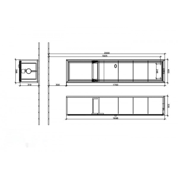 Villeroy&Boch Шкаф-пенал малиновый La Belle A590 1LDU