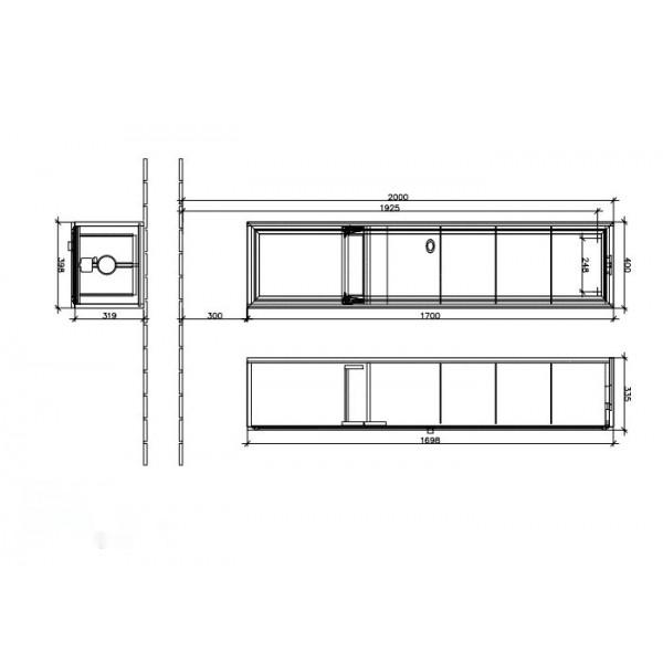 Villeroy&Boch Шкаф-пенал малиновый La Belle A590 2RDU