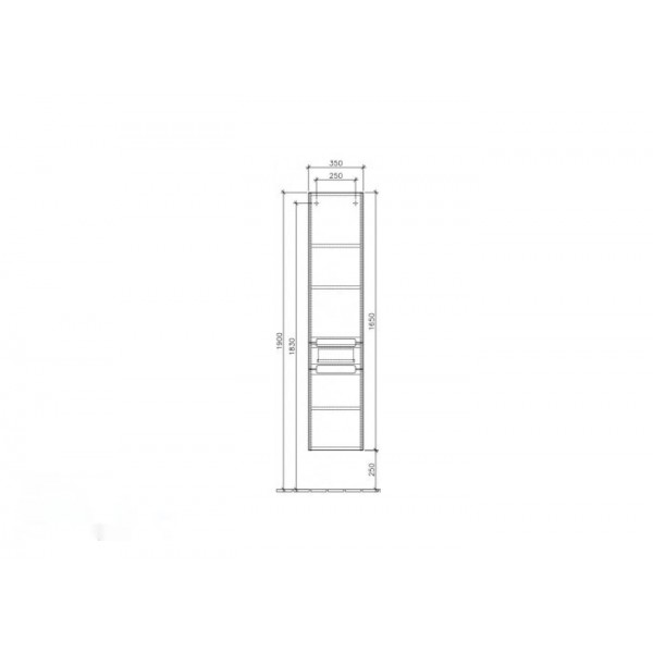Villeroy&Boch Шкаф-пенал подвесной Subway 2.0 A708 00DH