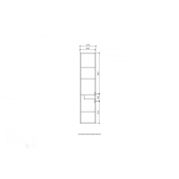 Villeroy&Boch Шкаф-пенал подвесной Subway 2.0 A708 00FP