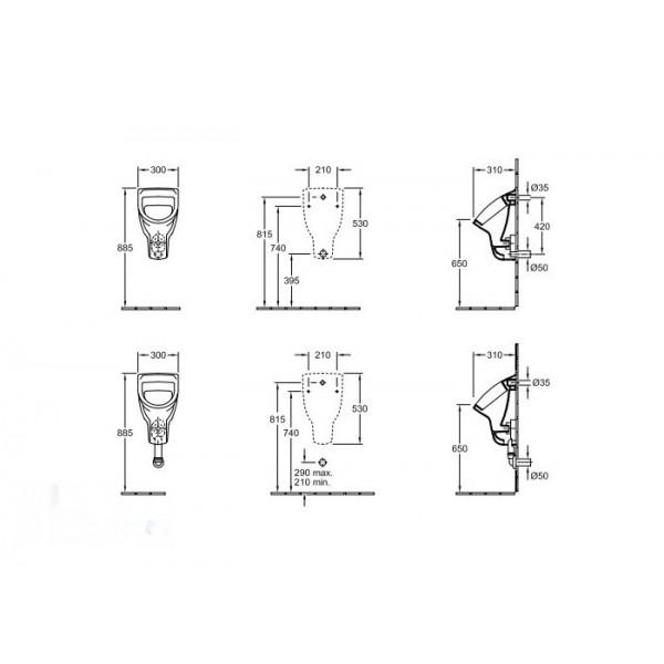 Villeroy&Boch Писсуар подвесной без крышки O'novo 7527 0001