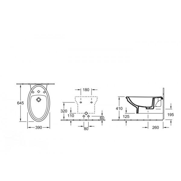 Villeroy&Boch Биде подвесное Amadea Royal 7E86 B02R