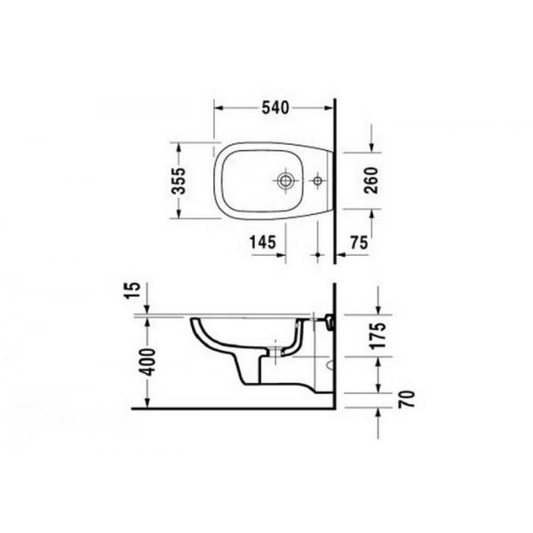 Duravit Биде подвесное D-CODE 22361500002