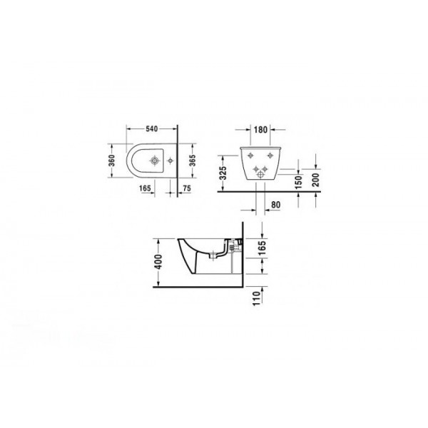 Duravit Биде подвесное DARLING NEW 22491500001-WG