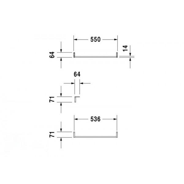 Duravit Полотенцедержатель для раковины 045460 VERO 0030371000
