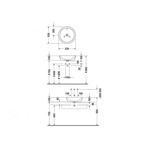Duravit Раковина белая STARCK1 04475300001-WG