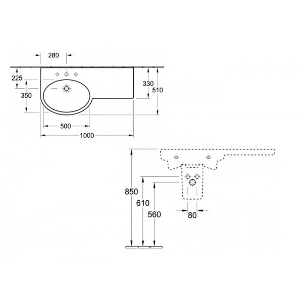 Villeroy&Boch Раковина (SX) с топом Variable 5158 A1R1