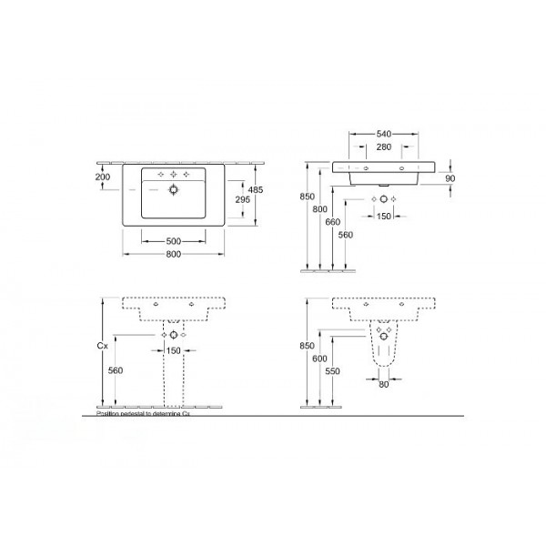 Villeroy&Boch Полупьедестал Omnia Architectura 7264 6001