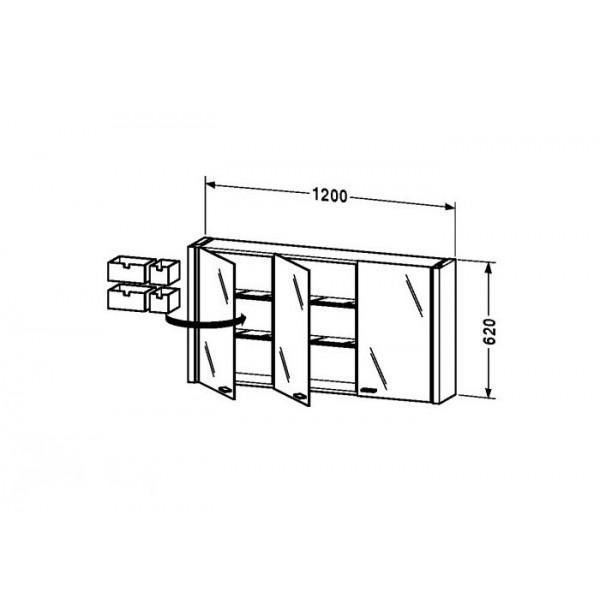 Duravit Зеркальный шкафчик 2nd FLOOR 2F965306565