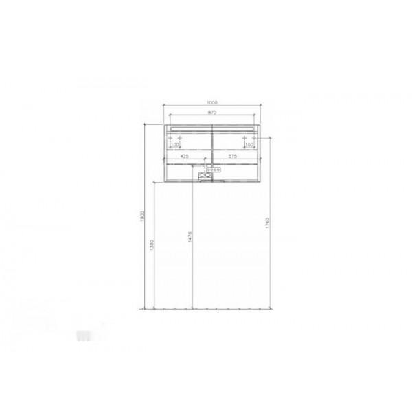 Villeroy&Boch Зеркальный шкаф подвесной Subway 2.0 A376 A0DH