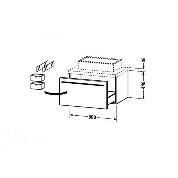 Duravit Тумба подвесная X-LARGE XL671308383