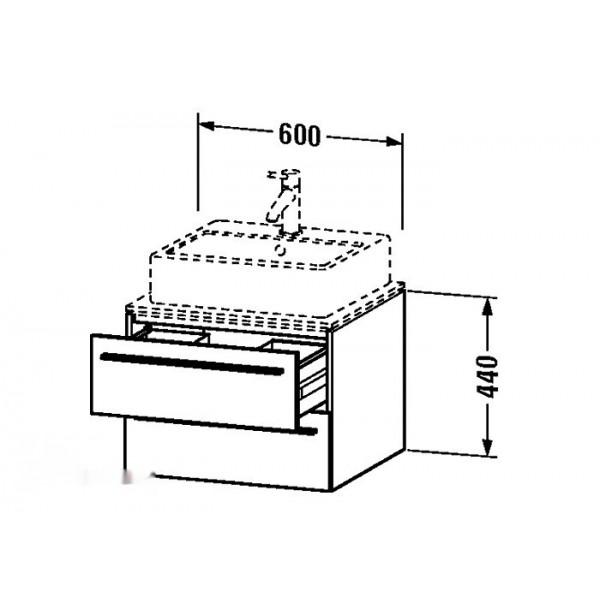 Duravit Тумба подвесная X-LARGE XL671702222