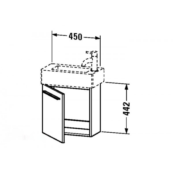 Duravit Тумба под раковину подвесная X-LARGE XL6208L8383