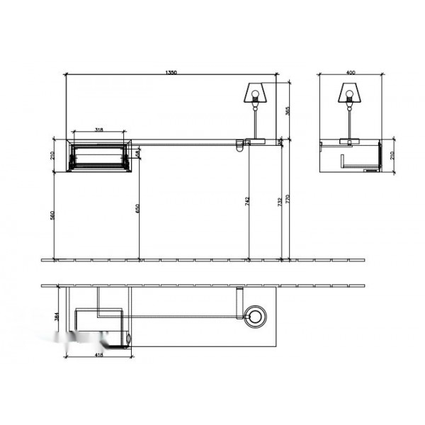 Villeroy&Boch Туалетный столик малиновый La Belle A588 1LDU